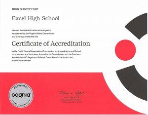 Excel New Cognia Certificate 2023