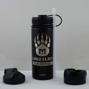 Grizzlies Bottle - 18oz - Grizzly Paw Graphic