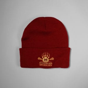 Beanie - Cardinal - Grizzlies Lacrosse Embroidery