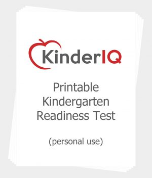 Printable Kindergarten Readiness Test for Personal Use