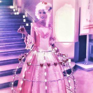 Robe à champagne - Marie Antoinette, pour BENEFIT