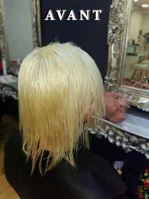 coupe structuree rasee blond polaire coiffeur coloriste aix