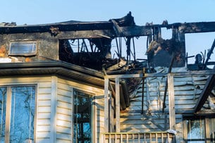 Home Burned In Fire Total Loss