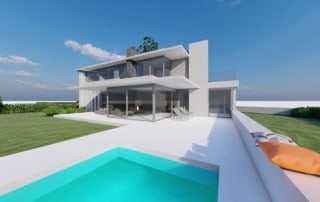 Zeitlose Villa mit Flachdach