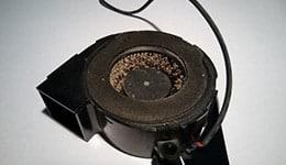 Bild Verunreinigter Beamer Lüfter, Beamerlampen