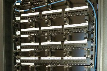 Empty server rack