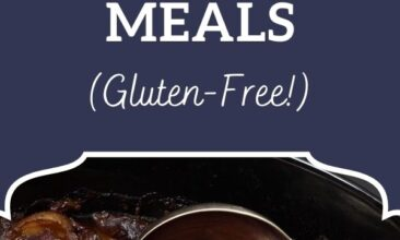 """Pinterest pin, image is a bowl of beef stew with carrots and potatoes. Text overlay says, """"15 Freezer to Crockpot Meals - gluten free!"""""""