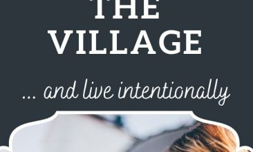 """Pinterest pin collage, first image is of a group of women laughing together. Text overlay reads """"6 Ways I'm Trying to Bring Back the Village"""""""