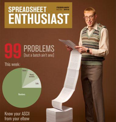 Graphic Designer Kate Henderson's 'Spreadsheet Enthusiast' design for Lurzer's Magazine