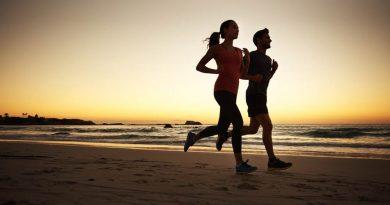beach running - boy and girl