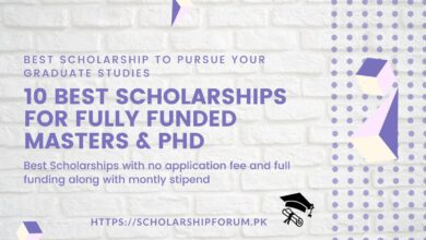 Photo of 10 Best Scholarships for Fully Funded Masters & PhD