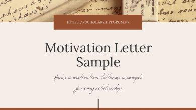 Photo of Sample Motivation Letter for Scholarship Applications