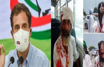 Lathi charge on farmers in Haryana, Rahul Gandhi said- then the blood of the farmer has been shed