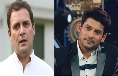 Congress MP Rahul Gandhi expressed grief over the demise of Siddharth Shukla