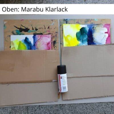 Oben: Marabu Klarlack