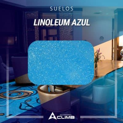 Suelos de linoleum azul