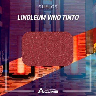 Suelos de linoleum vino tinto