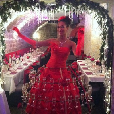 robe champagne événementiel