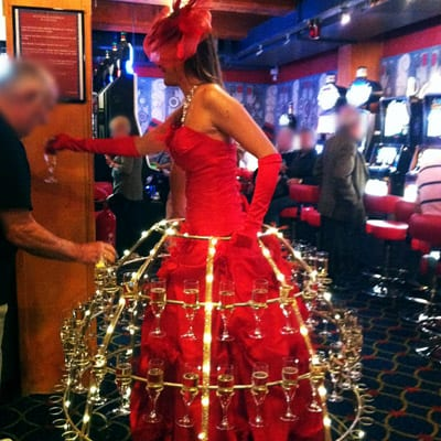Princesse Champagne animation CASINO BARRIERE
