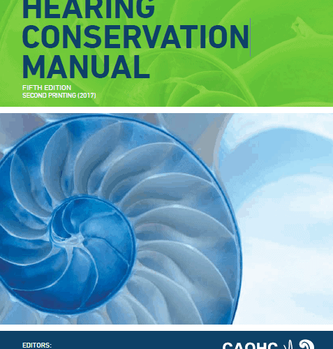 CAOHC Hearing Conservation Manual 5th Ed