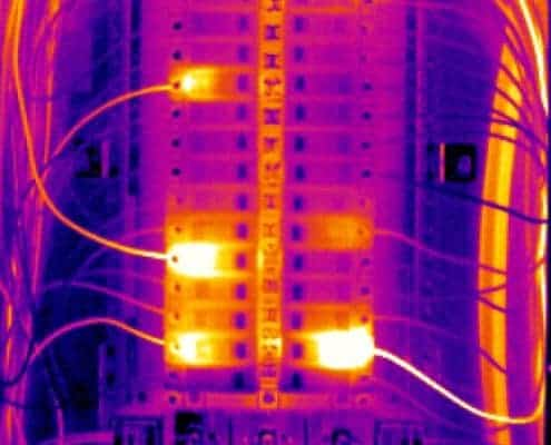 Electric panel thermal imaging