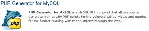 php generator for mysql logo