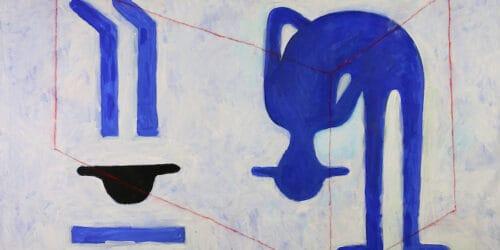 Saher Nassar, Untitled (2018), acrylic on canvas, 100 x 150 cm