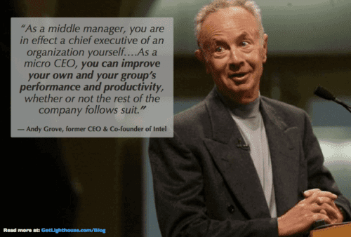 people leave managers, not companies andy grove knows what's up