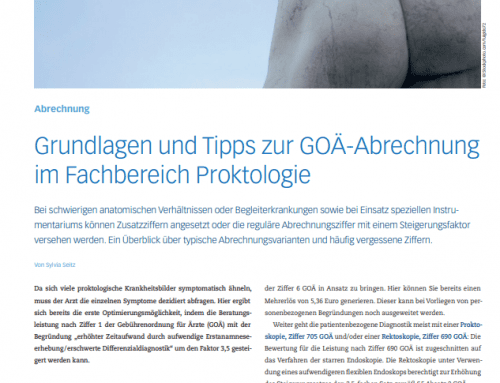 Grundlagen und Tipps zur GOÄ-Abrechnung im Fachbereich Proktologie