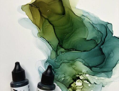 Neue Farbtöne von Octopus Fluids auf Nara Papier