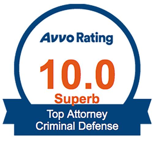 Parker Criminal Lawyer AVVO Rating 10 Superb