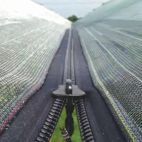 hail net with zip
