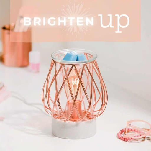 Glass and Rose Gold Wax Warmer