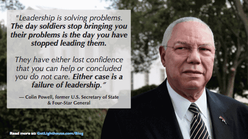 colin powell knows how important communication is for a skip level meeting questions and more