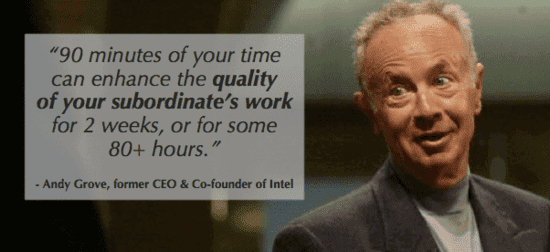afraid at work - andy grove knows the value of 1 on 1s which can break down that fear