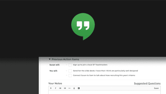 how to take notes in one on ones - split the screen for a google hangout
