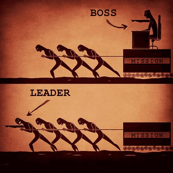 good leader vs. bad leader