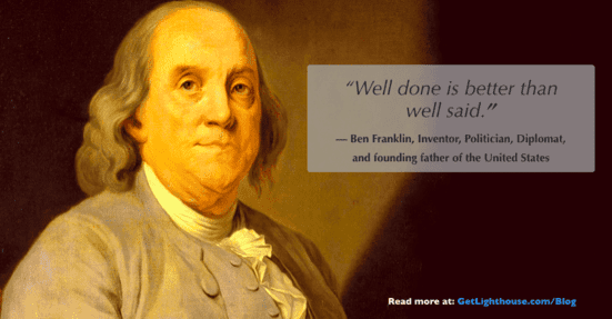 grit is about actions to stick with it like ben franklin knows