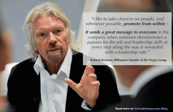 when to quit your job as a leader, Richard Branson knows the value of training your successor