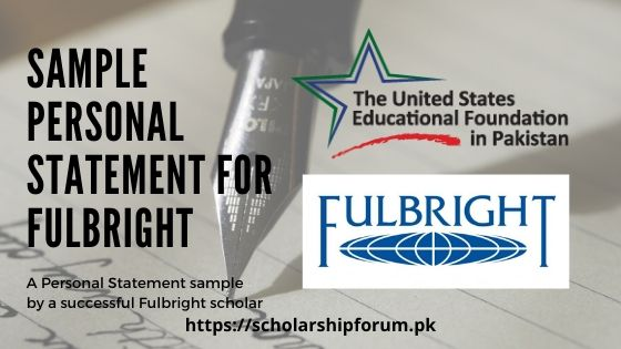 Sample Personal Statement for Fulbright application