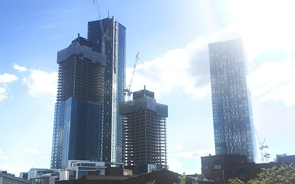 Manchester growing skyline architect insurance and surveyors insurance
