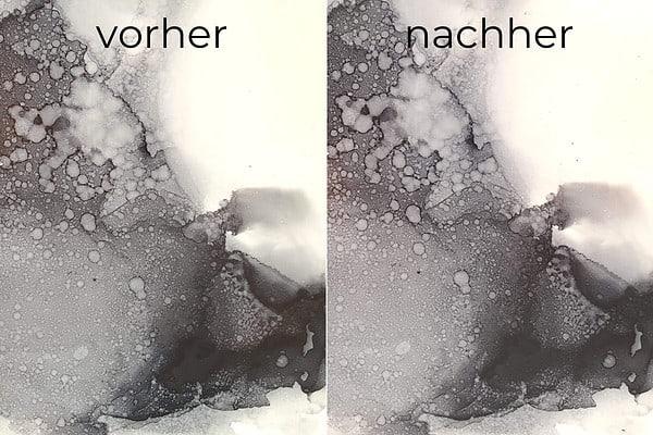 Alcohol Ink Bild versiegelt mit Liquitex Gloss Varnish