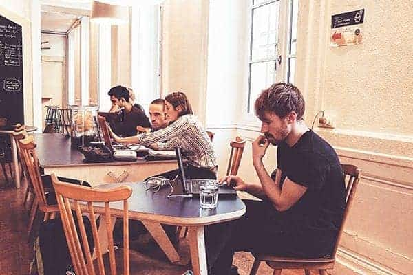 Freelancers in a coworking environment