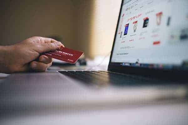 online credit card shopping