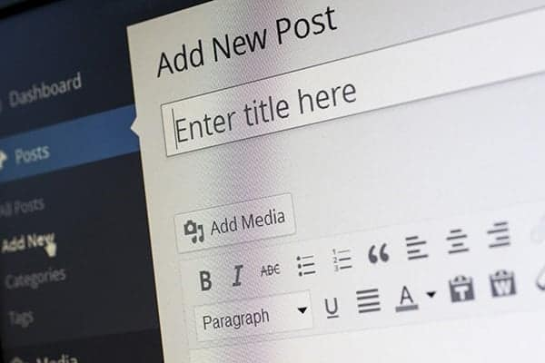 new blog post in wordpress
