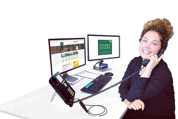 Why you can rely on us for your business insurance - Caunce O'Hara's Schemes Manager Katie taking a customer call