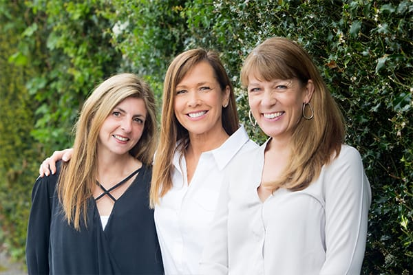 Jane centre with fellow members of The Practice - Maddie and Tracey
