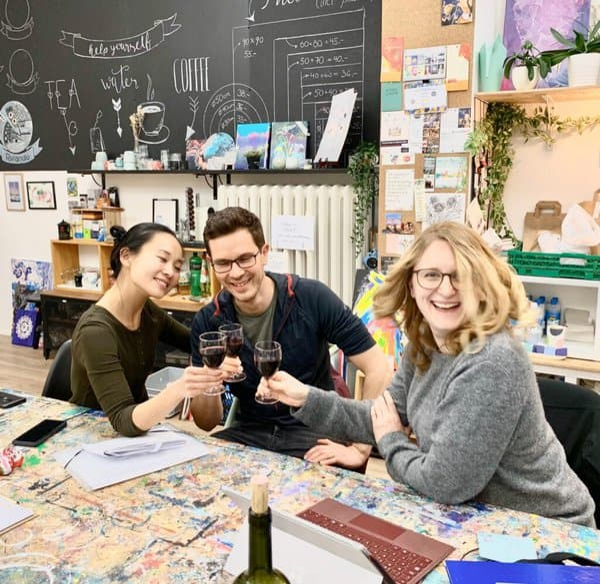 PaintEvents Gründer: Song Yu, Martin Pfeiffer, Annette Preussner