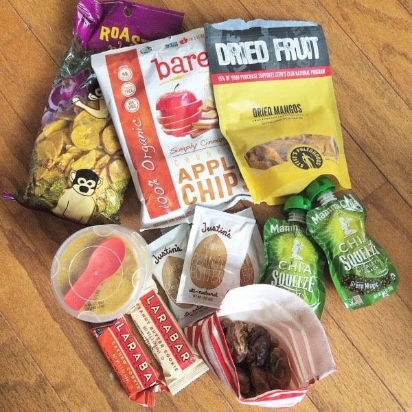 staying healthy while traveling: travel food