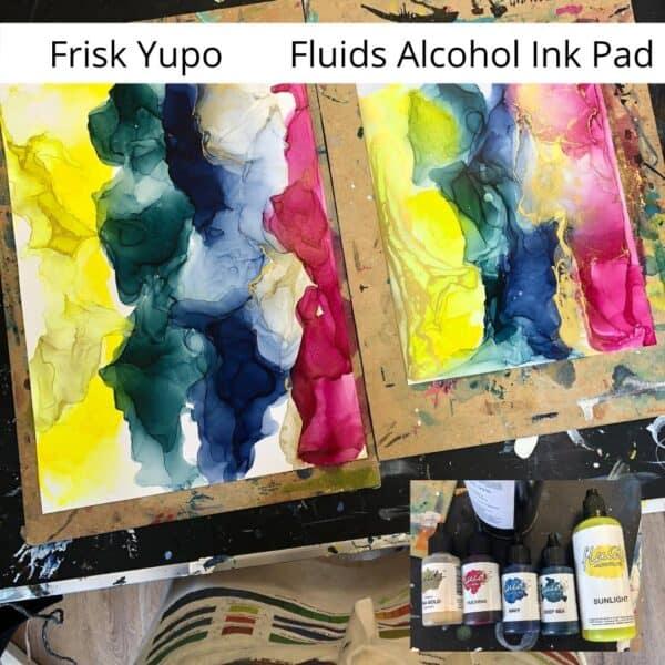 Octopus Fluids Tinten auf Frisk Yupo und Fluids Alcohol Ink Pad